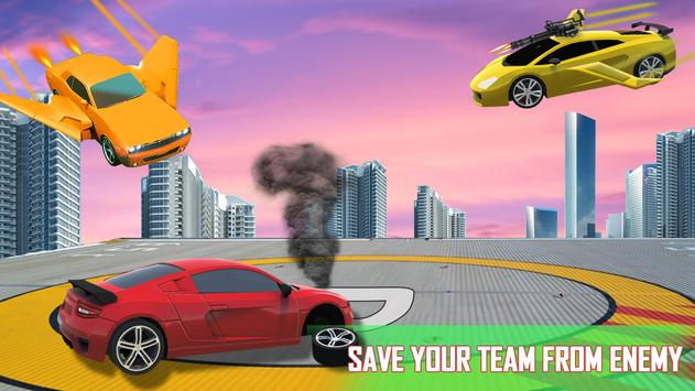 Flying Car Games 2020- Drive Robot Shooting Cars screenshot 5