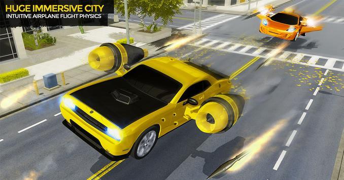Flying Car Shooting Game: Modern Car Games 2021 screenshot 3
