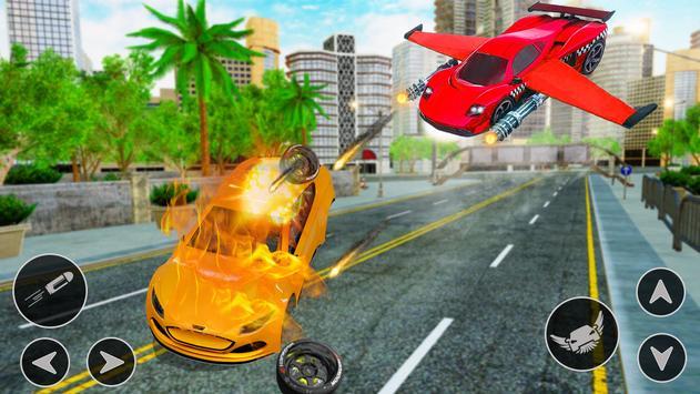 Flying Car Shooting Game: Modern Car Games 2021 screenshot 12