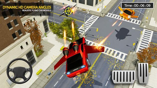 Flying Car Shooting Game: Modern Car Games 2021 screenshot 1