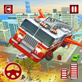 Flying Fire Fighter Rescue Truck:Rescue Game