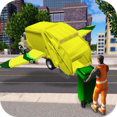 Flying Garbage Truck Simulator أيقونة