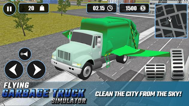 Flying Garbage Truck Simulator Affiche