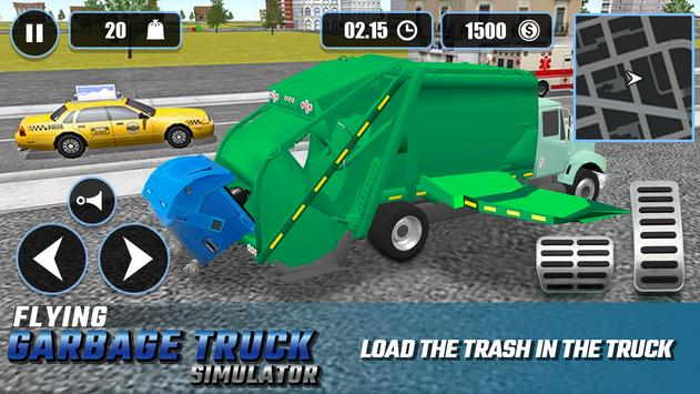 Flying Garbage Truck Simulator Screenshot 2