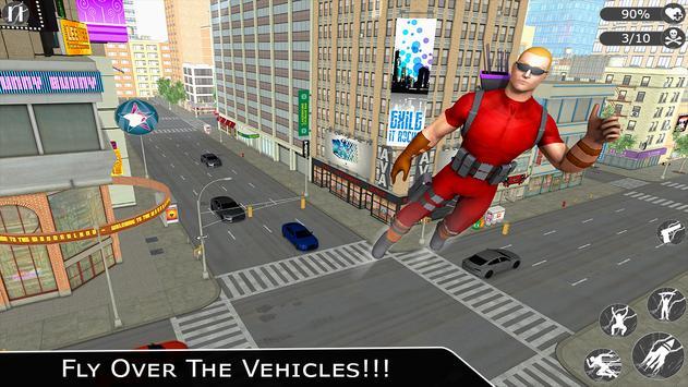 Flying Ninja Super Hero - Rescue Survival Game poster