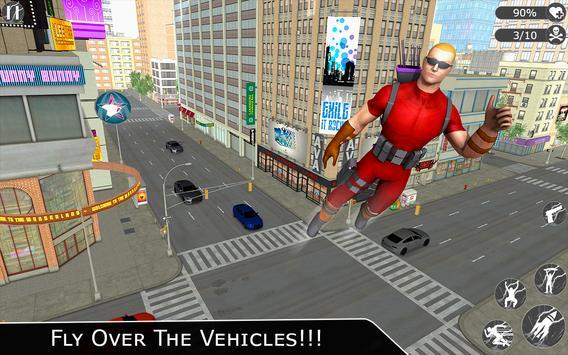 Flying Ninja Super Hero - Rescue Survival Game screenshot 4