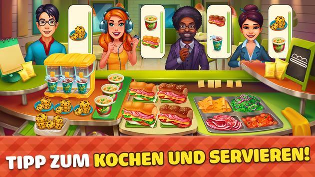 Cook it! Koch Spiele City & Essen Spiele Madness Plakat