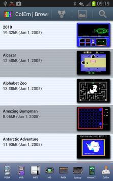 ColEm Deluxe - Complete ColecoVision Emulator screenshot 1