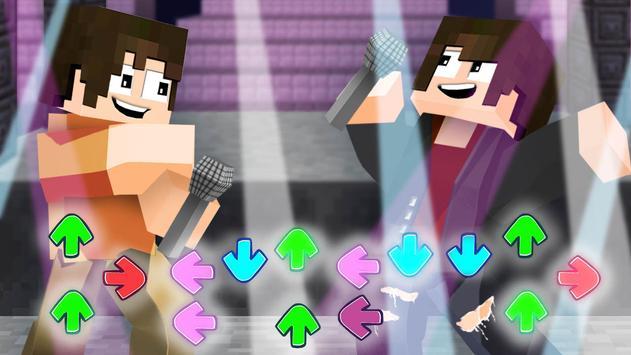 Mod of Friday Night Funkin for Minecraft plakat