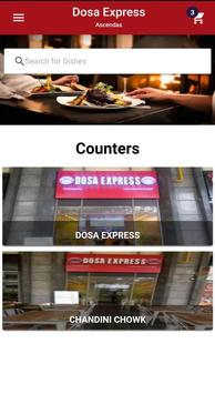 Dosa Express - Food Ordering App poster