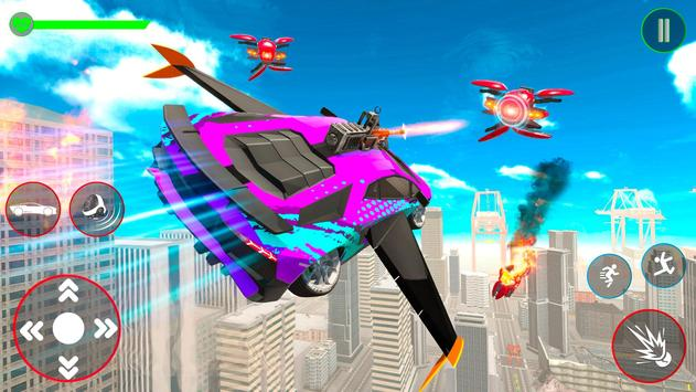 Red Ball Robot Car Transform: Flying Car Games screenshot 10