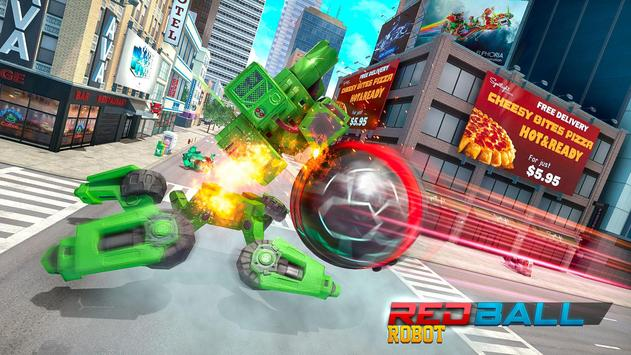 Red Ball Robot Car Transform: Flying Car Games screenshot 13
