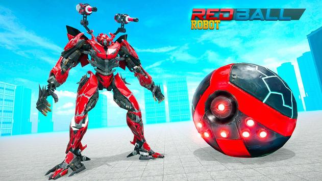Red Ball Robot Car Transform: Flying Car Games screenshot 2