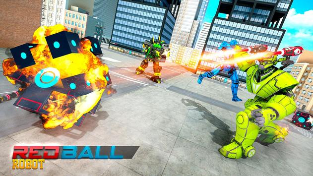 Red Ball Robot Car Transform: Flying Car Games screenshot 4