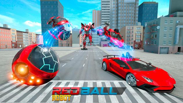Red Ball Robot Car Transform: Flying Car Games screenshot 6