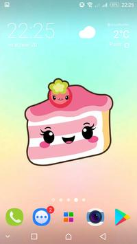 Cute food backgrounds - kawaii wallpapers screenshot 1