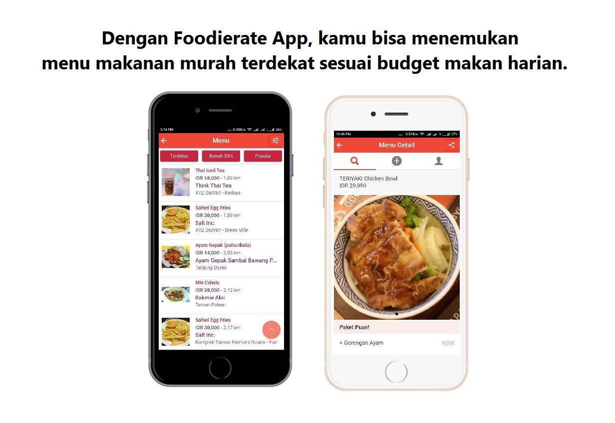 Foodierate Indonesian Food Restaurant Deals Finder For