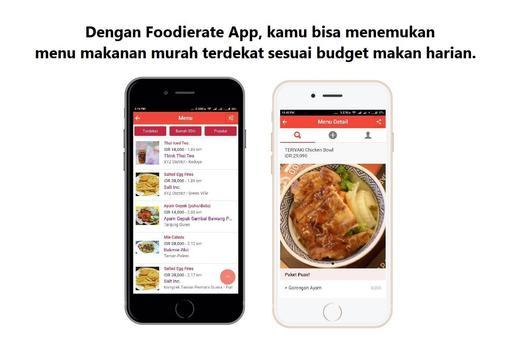 Foodierate – Indonesia Food Restaurant Finder App screenshot 1