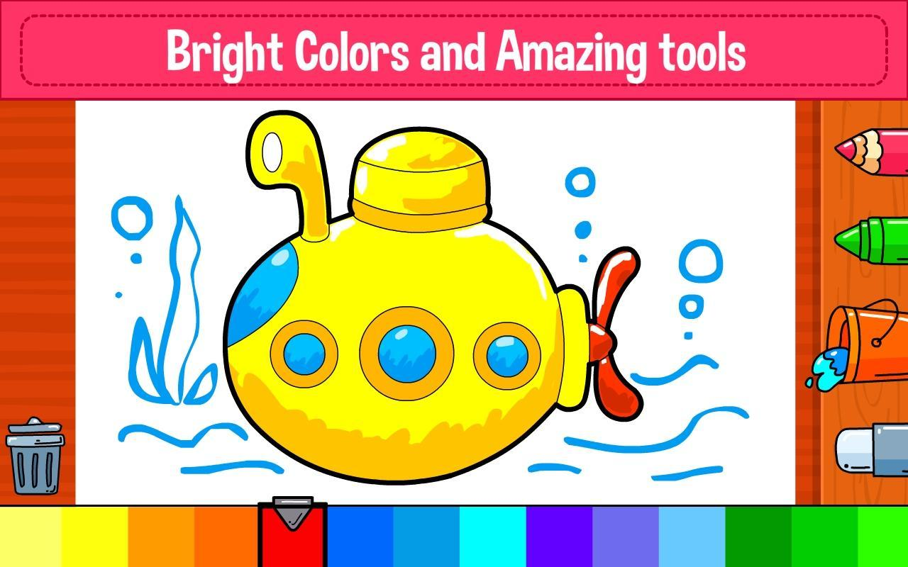 Learning & Coloring Game for Kids & Preschoolers for Android - APK ...