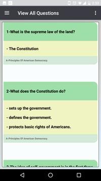 US Citizenship Test 2019 captura de pantalla 3