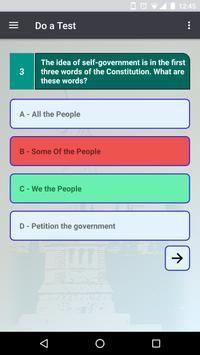 US Citizenship Test 2019 captura de pantalla 4