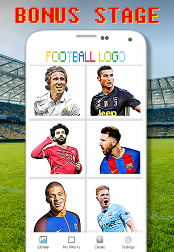Football Logo Coloring By Number Pixel Art Apk 110