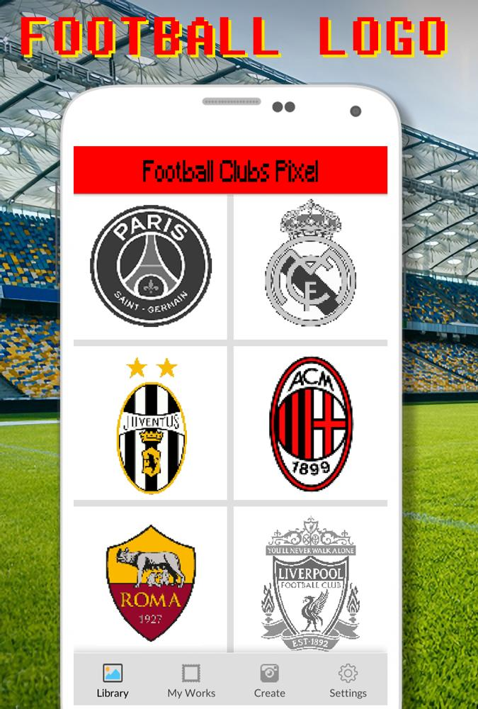 Football Logo Coloring By Number Pixel Art For Android