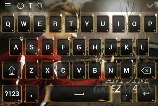 Antoine Griezmann Keyboard 2018 screenshot 5
