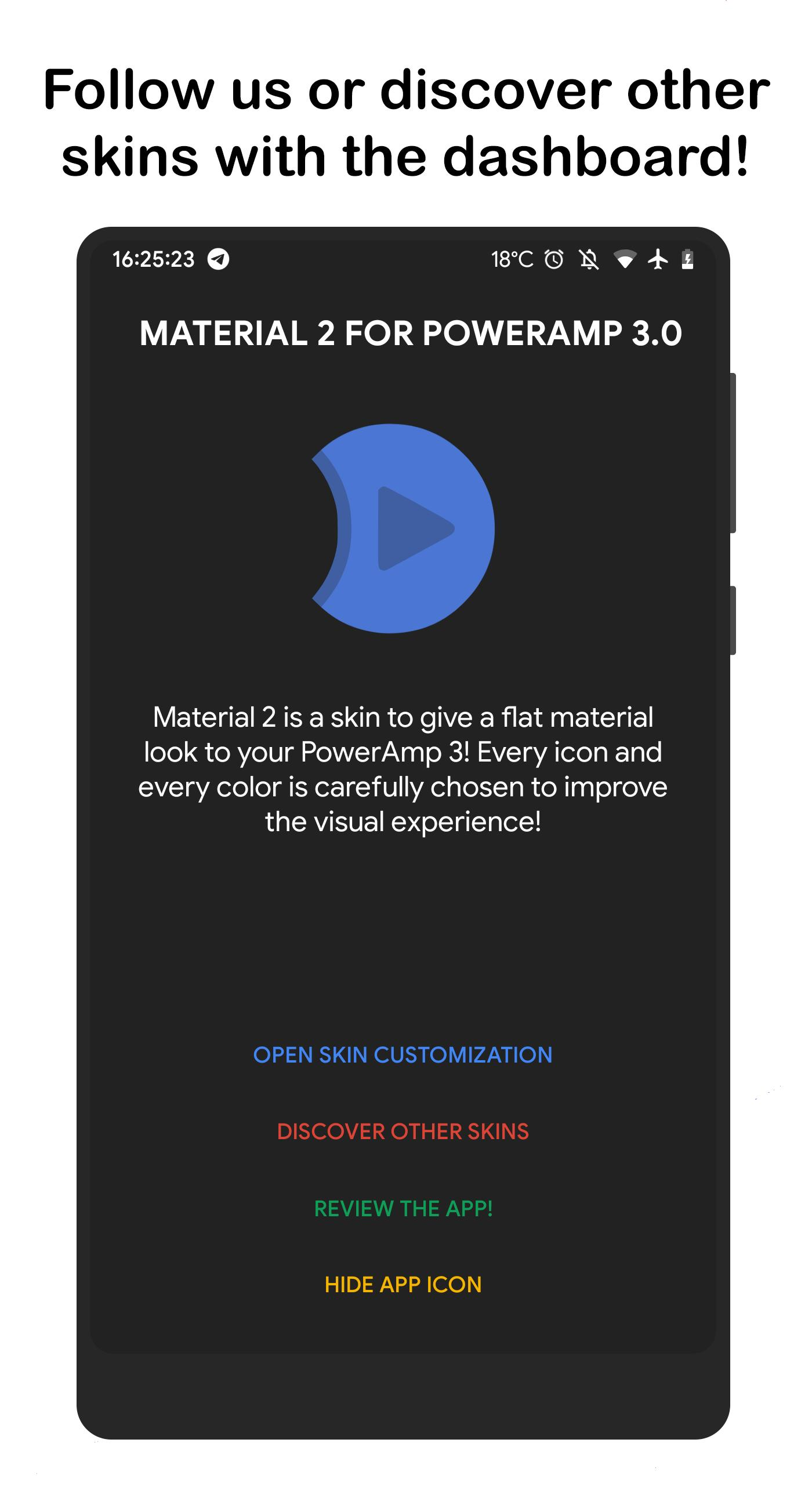 Material2 ⚡️ PowerAmp v3 Skin for Android - APK Download