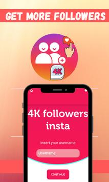4K Followers -- followers& Likes for Instagram poster