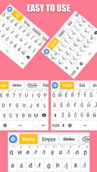 Fonts Keyboard - Text Fonts & Emoji screenshot 2