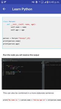 Learn Python screenshot 2