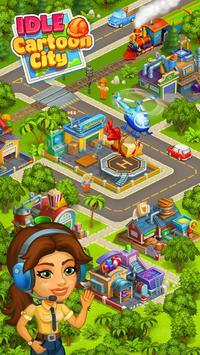 Cartoon city: granja y ciudad Poster
