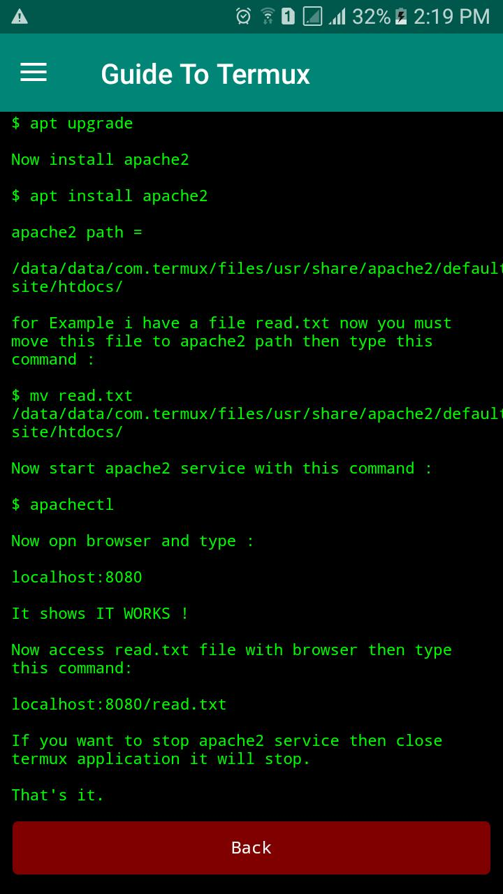 Guide To Termux for Android - APK Download