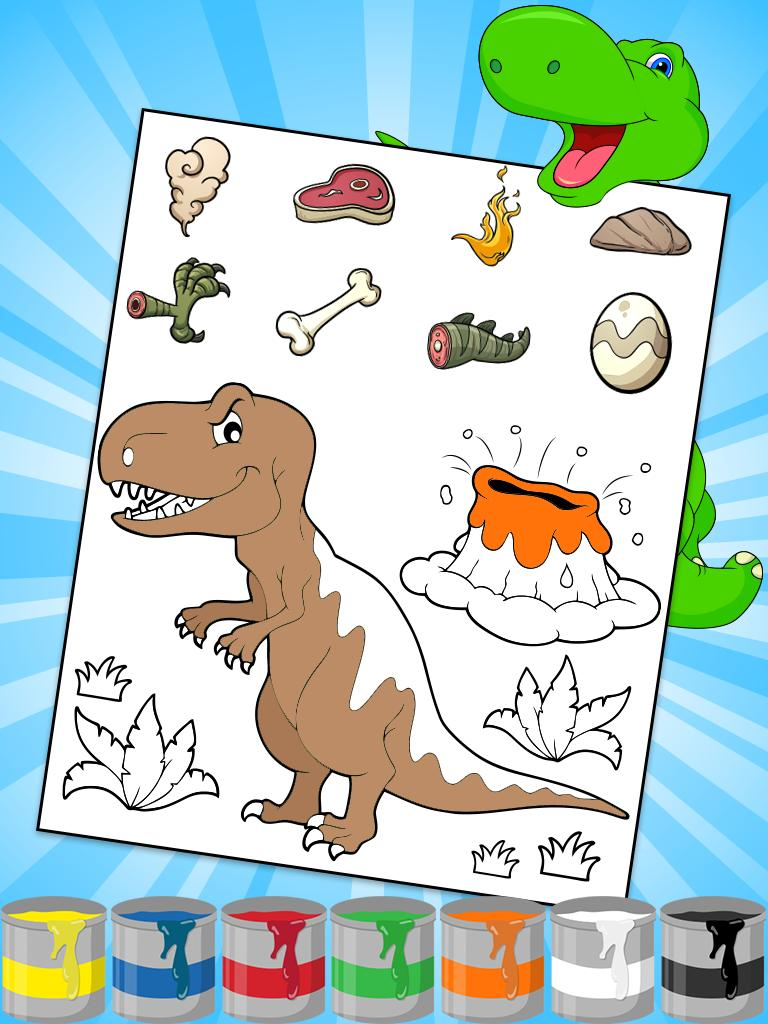 Dinosaurus Mewarnai Anak Anak For Android APK Download