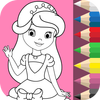 Princess Coloring Book ❤ icon
