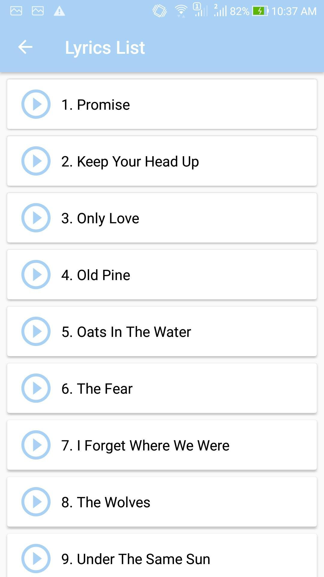 Ben Howard Top Songs Lyrics For Android Apk Download