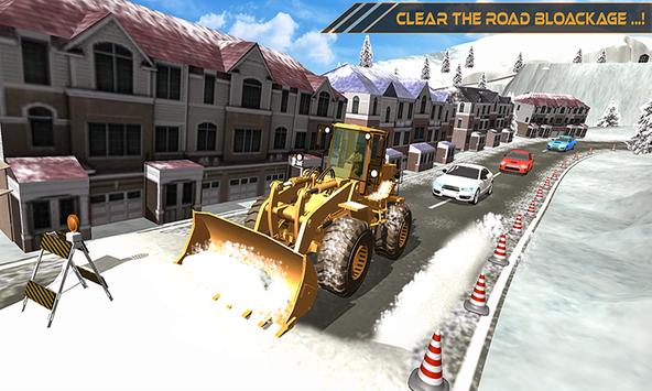 Grand Snow Excavator Machine Simulator 18 海報