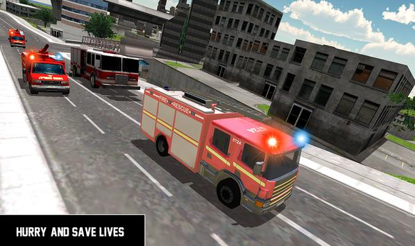 Heavy Ladder Fire Truck 2 City Rescue 2019 screenshot 4