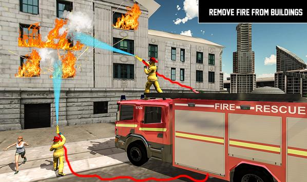 Heavy Ladder Fire Truck 2 City Rescue 2019 screenshot 7
