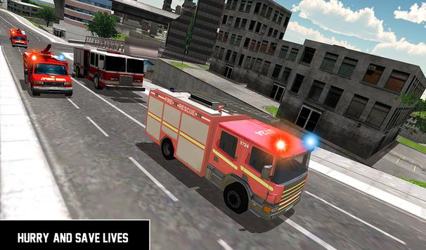 Heavy Ladder Fire Truck 2 City Rescue 2019 screenshot 9
