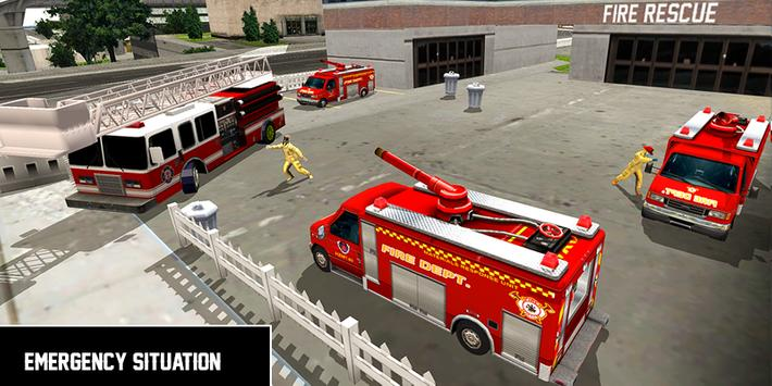 Heavy Ladder Fire Truck 2 City Rescue 2019 poster