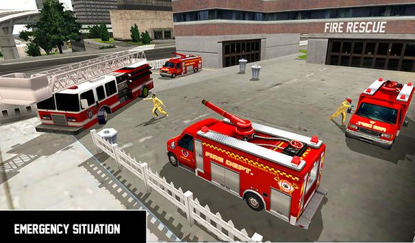 Heavy Ladder Fire Truck 2 City Rescue 2019 screenshot 10