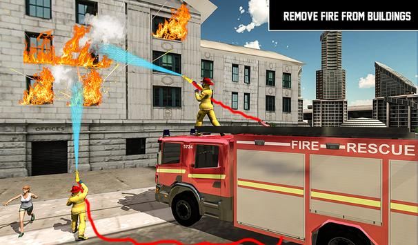 Heavy Ladder Fire Truck 2 City Rescue 2019 screenshot 11