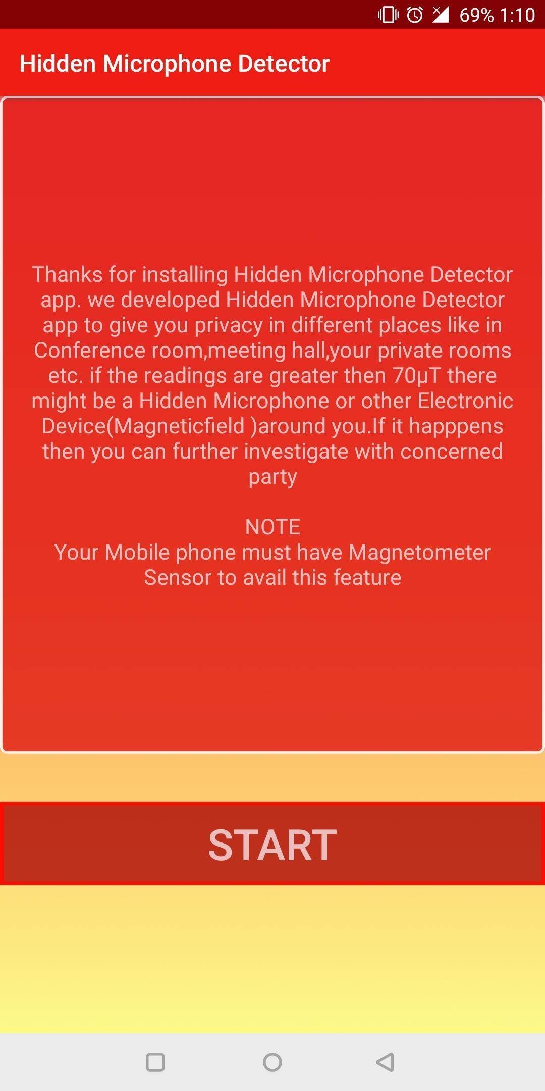 Microphone Detector Listening Devices Detector For Android Apk Download