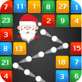 Santa Ball Bricks Breaker : Christmas Games 2018 icon