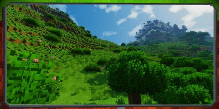 Realistic Nature Mod Minecraft poster