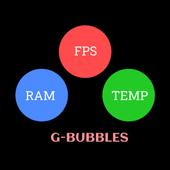 FPS Meter & Crosshair Free - Gamer Bubbles biểu tượng