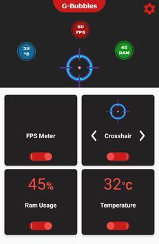 FPS Meter & Crosshair Free - Gamer Bubbles ảnh chụp màn hình 1