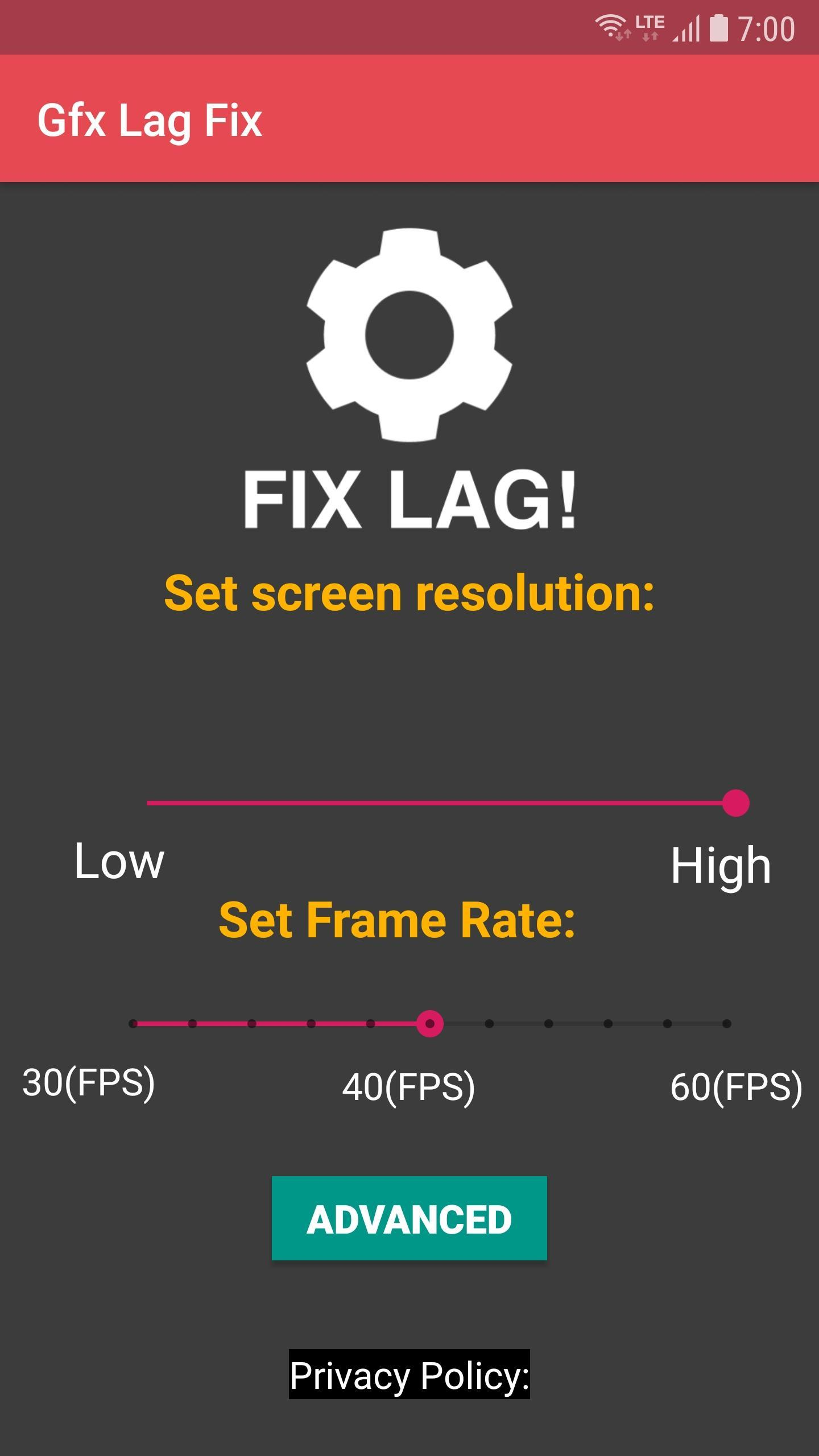 GFX Tool for PUBG - Lag Fix (Unreleased) for Android - APK